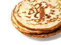 Pancakes stack of on a plate isolated over white Stock Photos