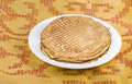 Pancakes on a white plate Royalty Free Stock Photos
