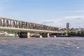 Pancevacki most pancevo bridge on danube river Stock Images