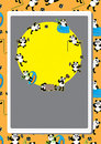 Panda Action Pattern Card_eps Stock Photo