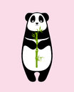 Panda with bamboo sprout Royalty Free Stock Photo
