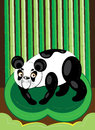 Panda in the bamboo wood illustration vector Stock Images