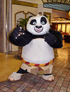 Panda bear kung fu he was part of the parade of disney dream work heroes as they walked around the cruise ship on the promenade Stock Photography
