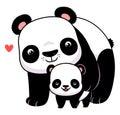 Panda and cub Royalty Free Stock Photo