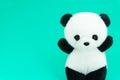 Panda doll black and white, black rim of eyes Royalty Free Stock Photo