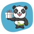 Panda Holds Gift