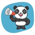 Panda Holds Megaphone