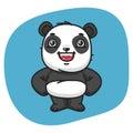 Panda Holds Paw Waist