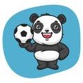 Panda Holds Soccer Ball