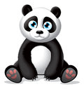 Panda illustration detailed vector for best prints and other us Royalty Free Stock Image
