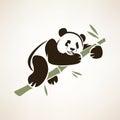 Panda Isolated Symbol