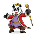 Panda king of being greeted with friendly and excited Royalty Free Stock Images