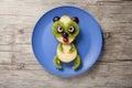 Panda made of fruits Royalty Free Stock Photo