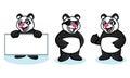 Panda mascot vector heureux Photos libres de droits