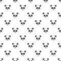 Panda pattern, simple style