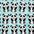 Panda Seamless Pattern With Fu...