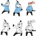 Panda  set 2 Royalty Free Stock Images