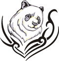 Panda tattoo Royalty Free Stock Photography
