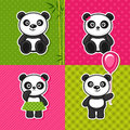 Panda vector illustration of a Royalty Free Stock Image
