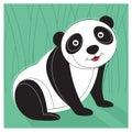 Panda vector illustration Royaltyfri Fotografi