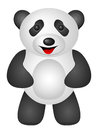 Panda on a white background Royalty Free Stock Photography