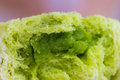 Pandan steamed bun close up custard Royalty Free Stock Photos