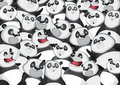 Pandas background pattern Royalty Free Stock Images