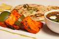 Paneer tikka kebab from india tandoori is the wonderful dish which is made with cottage cheese and vegetables of your choice Royalty Free Stock Image