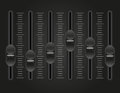 Panel console sound mixer vector illustration