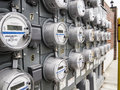 Panel of electric meters Royalty Free Stock Photo