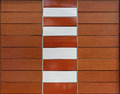Paneling decorative brown with composite materials Royalty Free Stock Photography