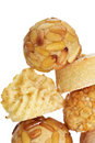 Panellets, typical confection eaten in All Saints Day in Catalon Royalty Free Stock Photo