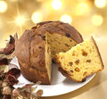 Panettone cake italian named typical christmas Stock Image