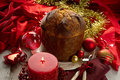 Panettone on christmas table Royalty Free Stock Images