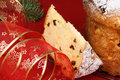 Panettone the italian Christmas fruit cake Stock Photos