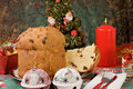 Panettone - Italian xmas cake Royalty Free Stock Photography