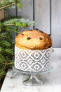 Panettone - traditional italian christmas cake Royalty Free Stock Image
