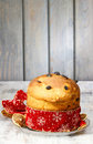 Panettone - traditional italian christmas cake Stock Image