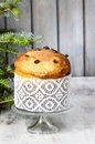 Panettone - traditional italian christmas cake Stock Photography