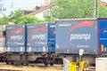 Paneuropa cargo train Royalty Free Stock Photo