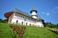 Pangarati orthodox romanian monastery in romania the outdoor architecture specific details Royalty Free Stock Photography