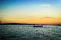 Panglao sunset on dumaluan beach island philippines Stock Photo