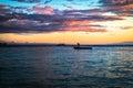 Panglao sunset on dumaluan beach island philippines Royalty Free Stock Photos