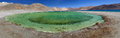Pangong lake a lagoon just besides in ladakh this is a panorama of verticle shots stitched together Stock Photo