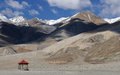 Pangong Tso mountains Stock Photography