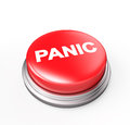 Panic button isolated on white d render Stock Photography