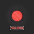 Panic button sign on black background Royalty Free Stock Photo