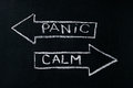 Panic or calm Royalty Free Stock Photo