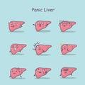 Panic cartoon liver set