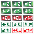 Panic light vector set of lights for evacuation plans Royalty Free Stock Image
